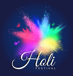 colorful gulal for happy holi invitation and vector image