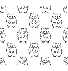 Cute hamster on white background vector