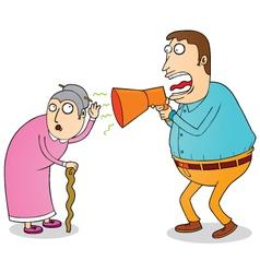 Deaf grandma vector