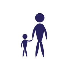 father and son pictogram flat icon family concept vector image vector image