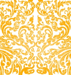 Floral art gold color vector