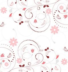Floral background with vintage flower pattern and vector image vector image