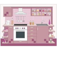 kitchen furniture vector image