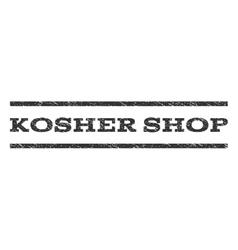 Kosher shop watermark stamp vector