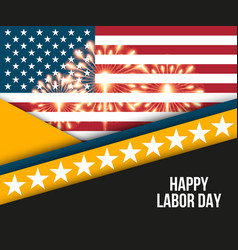 labor day card design vector image vector image