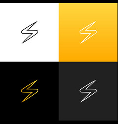 linear lightning zipper spark logo vector image