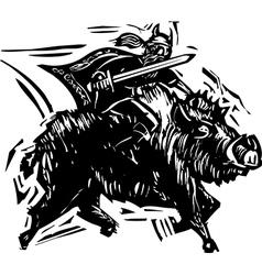Norse God Frey vector image vector image