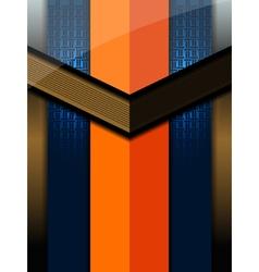 Orange blue modern background vector