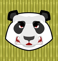 Panda angry Furious Chinese bear Animal furious vector image