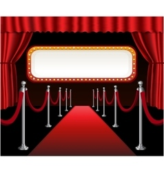 Red carpet movie premiere elegant event red vector image vector image