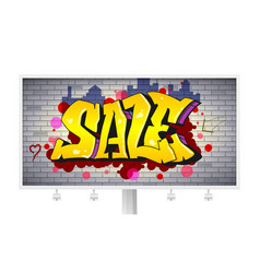 sale lettering in hip-hop graffiti style urban vector image vector image