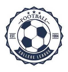 Soccer Football Typography Badge Design Element vector image