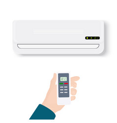 split system air conditionerrealistic conditioner vector image