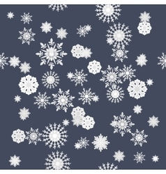 Winter snowflakes seamless texture pattern vector image