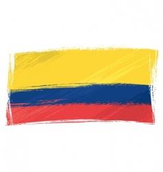 Grunge ecuador flag vector