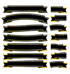 Black ribbons vector