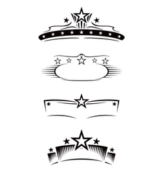 Entertainment symbols vector image