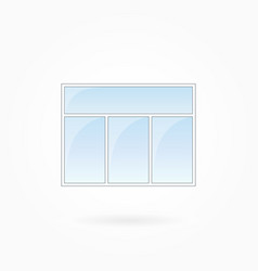 Window threefold window frame eps 10 vector