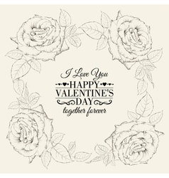 Happy holiday valntines card vector