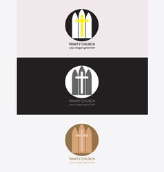 Trinity church logo vector