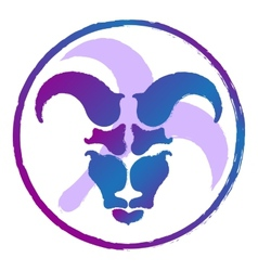 Zodiac sign aries  watercolor vector