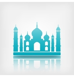 Taj mahal on white background vector