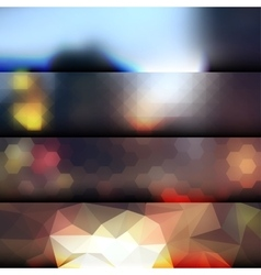 Blur lights city background vector