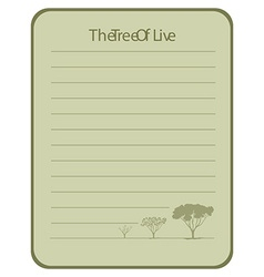 Line paper design with tree of live vector