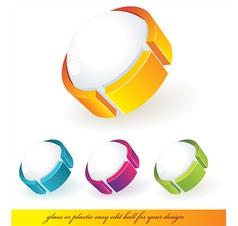 Ball symbols vector image