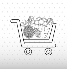 Vegetable purchasing design vector