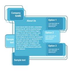 Blue abstract web design vector