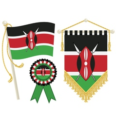 Kenya flags vector