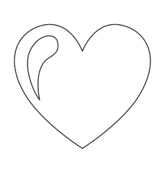 Heart drawing isolated icon design vector