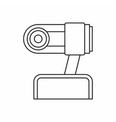 Webcam icon in outline style vector