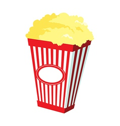 A pop corn is placed vector image vector image