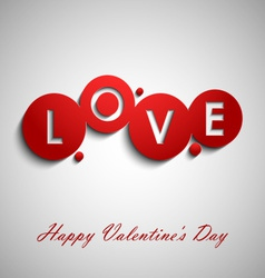 Abstract red valentine wishes vector image vector image