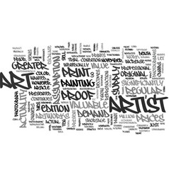 Art myths debunked text word cloud concept vector