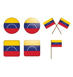 badges with flag of Venezuela vector image vector image