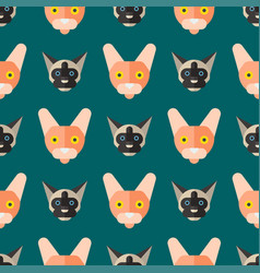 Cats cute animal seamless vector
