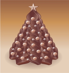 Christmas tree chocolate v vector