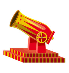 circus cannon icon cartoon style vector image