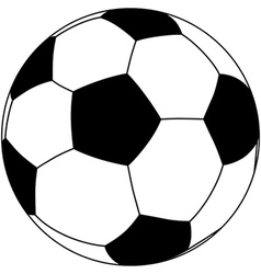 Closeup of a soccerball isolated in white vector
