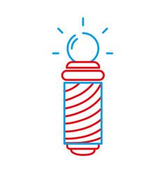 Color line baber shop symbol to haircut service vector