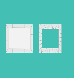 crack-frame vector image vector image