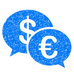 Euro transaction messages grunge icon vector