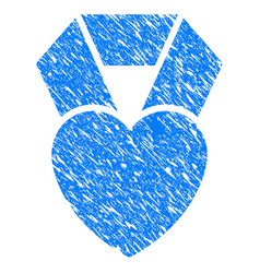 favorite heart award grunge icon vector image