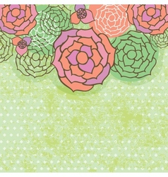 Floral seamless pattern in autumn colors vector image vector image