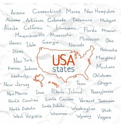 Hand drawn usa states vector