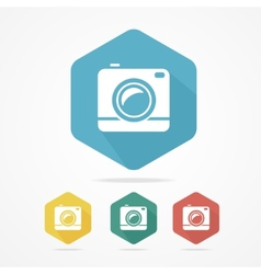 Hipster photo or video camera flat style vector