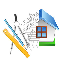 House drawing and design vector